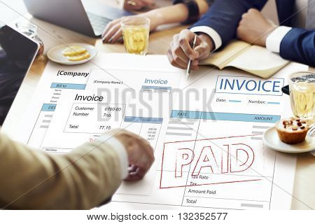 Invoice Tax Paid Payment Financial Account Concept