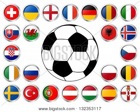 flags of national teams of soccer championship