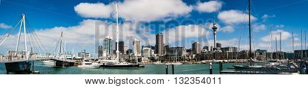 AUCKLAND, NEW ZEALAND - JANUARY 15 2016: Auckland day skyline