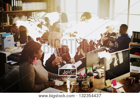 World Worldwide Business Marketing Communication Concep