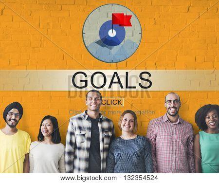 Goals Success Aim Aspiration Concept