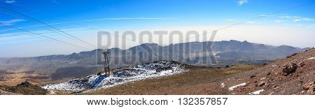 Panorama of Caldera of volcano El Teide on Tenerife island, Spain