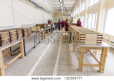 Rocket Explosives In Boxes In An Ammo Factory