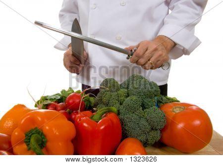Chef - Mann Messer schärfen