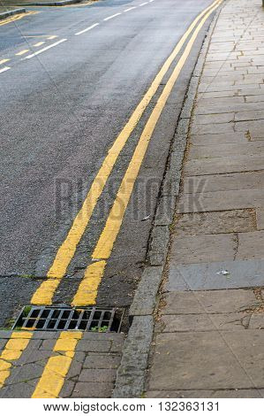 Double yellow lines on a road no parking