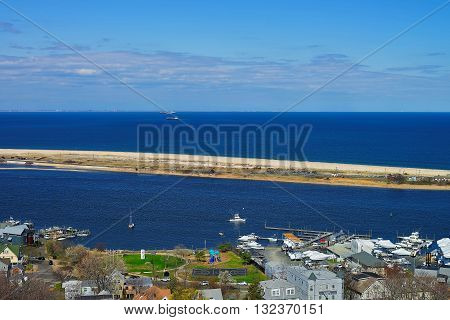 Houses And Atlantic Ocean Shore Viewed From The Light House