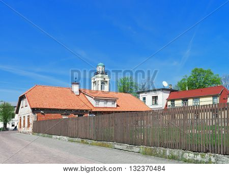 Old House With Wooden Fence In Ventspils Of Latvia