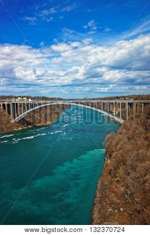 Rainbow Bridge Over Niagara River Gorge