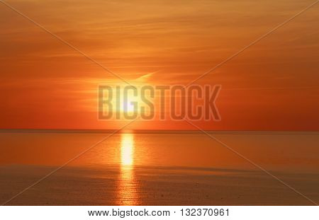 Sunset At The Baltic Sea In Ventspils