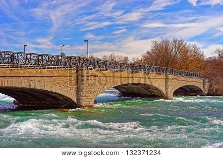 Bridge Above Niagara And Thresholds On Niagara River