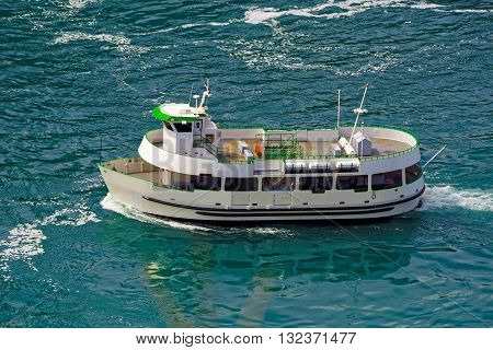 Ferry In The Waters Of Niagara River
