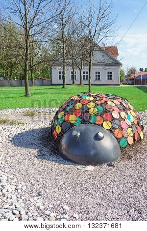Figure Of A Ladybird In The Street Of Ventspils In Latvia