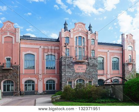 Old Building With Towers In Ventspils In Latvia