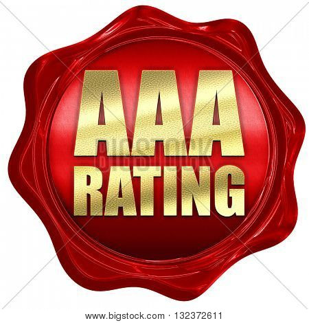 aaa rating, 3D rendering, a red wax seal