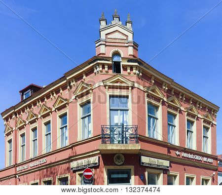 Old Building With Ornament In Ventspils In Latvia