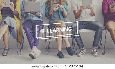 E-Learning Education Knowledge Instructional Media Technology Concept