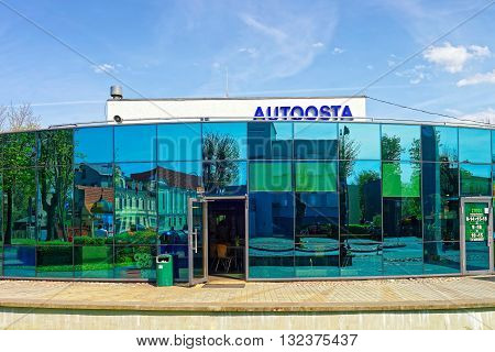 Bus Terminal Building In Ventspils In Latvia