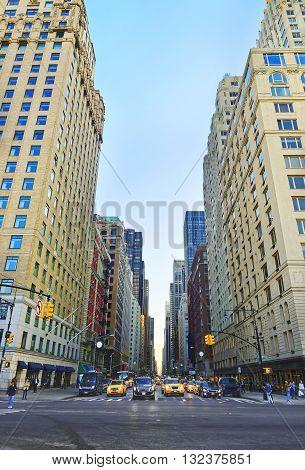 Crossroad At 6Th Avenue In Midtown Manhattan