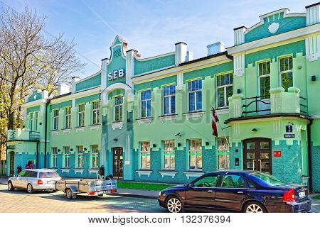 Old Building In Ventspils In Latvia