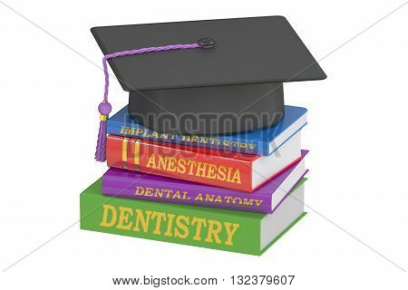 Dental Education concept 3D rendering isolated on white background