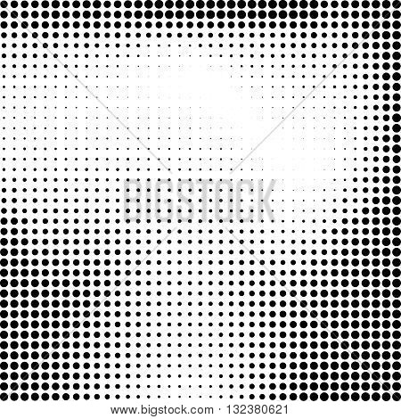 Halftone background.Halftone dots frame.Abstract vector illustration. Texture pattern for noise design.