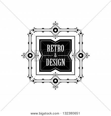 Vintage Label Badge Logo vector elements frame Luxury Retro
