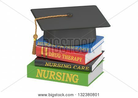 Nursing education concept 3D rendering isolated on white background