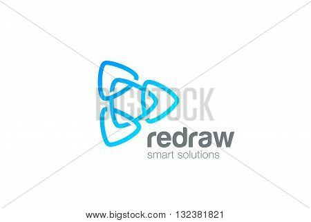 Triangle Logo loop abstract design vector Infinity Logotype
