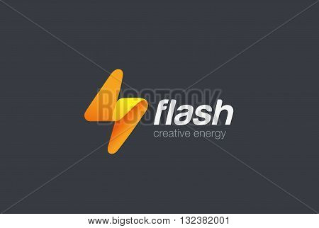 Flash Logo abstract Lighting bolt Power Energy Fast Speed icon