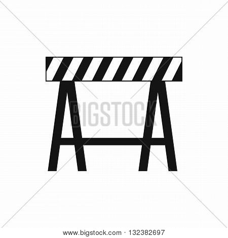 Traffic barrier icon in simple style isolated on white background