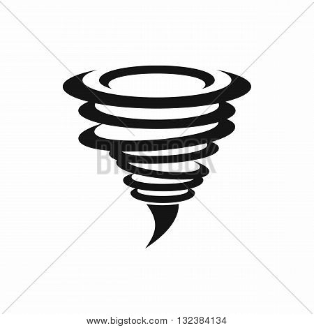Tornado icon in simple style isolated on white background