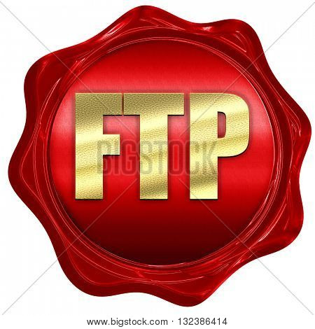 ftp, 3D rendering, a red wax seal