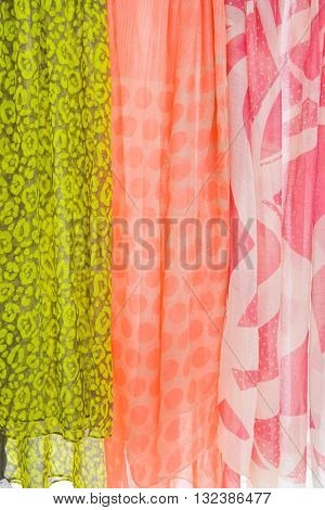 colorful sarongs in the shop