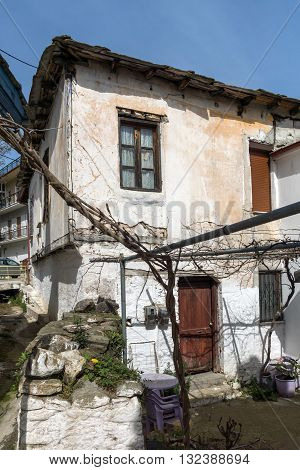 Old house in village of Panagia, Thassos island,  East Macedonia and Thrace, Greece
