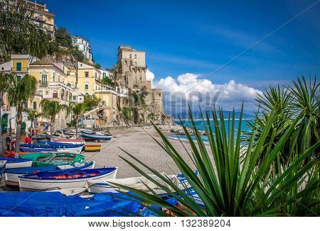 The Town of Cetara, Amalfi Coast, Italy