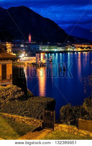 Lago di Como (Lake Como) Menaggio at blue hour