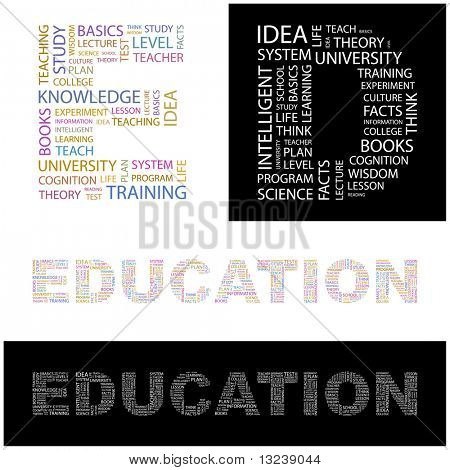 EDUCATION. Word collage for design.