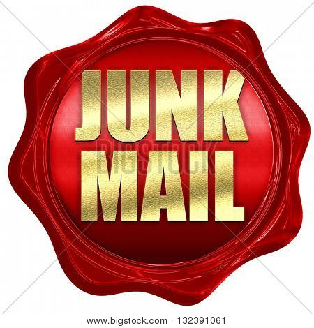 junk mail, 3D rendering, a red wax seal