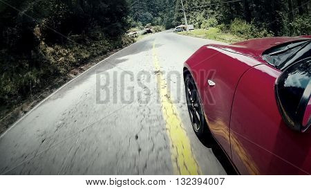 Prueba de manejo de automóvil tipo roadster