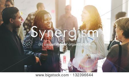 Synergism Team People Graphic Concept