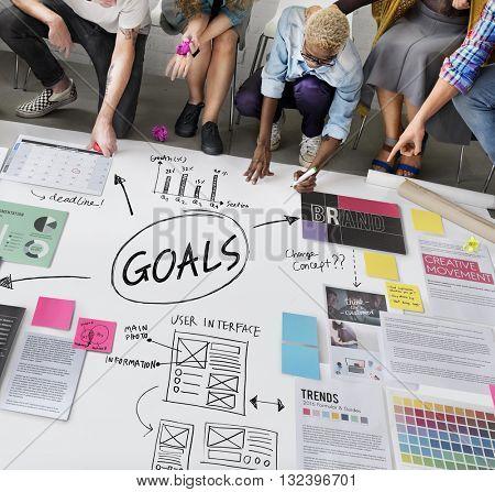 Goals Aim Inspiration Mission Target Vision Concept