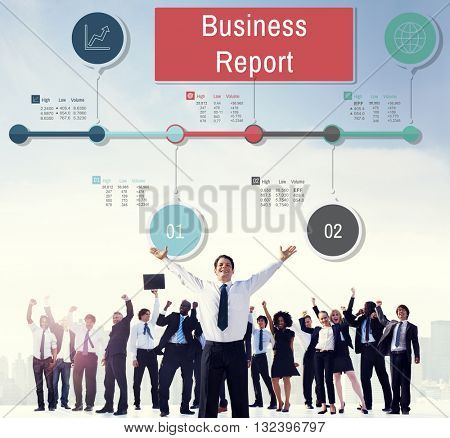Business Report Progress Research Analysis Status Concept