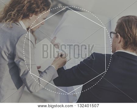 Business Formal People Frame Graphic Concept