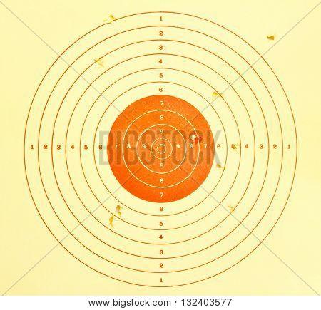 Holes in target sport background,gun, bullet, circle