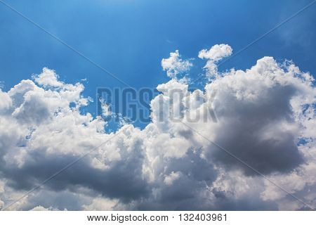 Land scape of Beautiful Clouds with blue sky