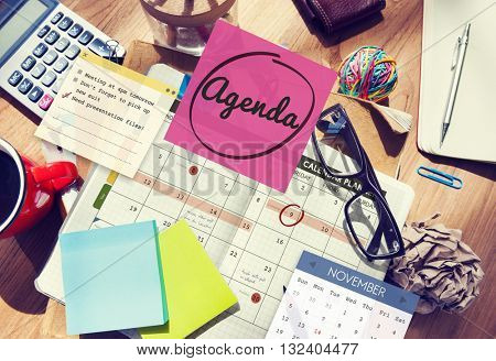 Agenda Planner To Do List Planning Concept