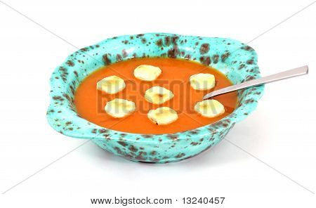 Tomato Bisque Crackers And Spoon