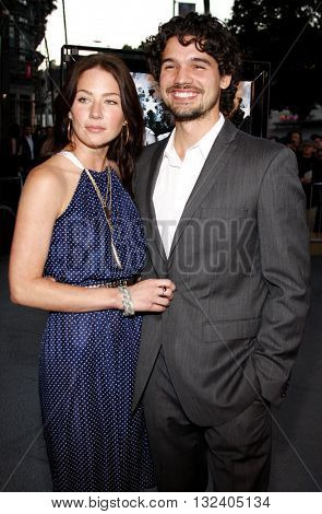 Lynn Collins and Steven Strait at the Los Angeles premiere of 'STOP-LOSS' held at the DGA Theater in Hollywood, USA on March 17, 2008.