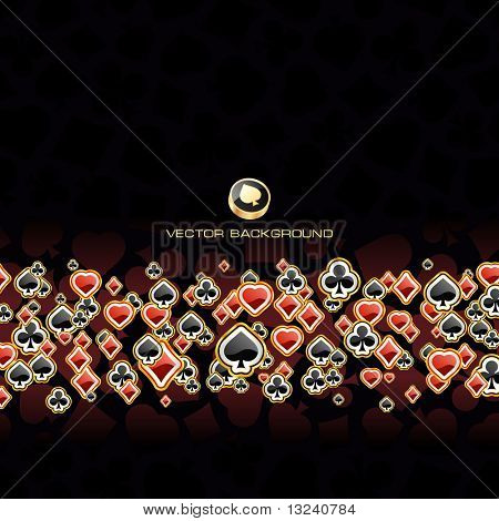 Abstract background with card suits. Vector illustration.