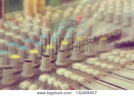 Image Of Sound Mixer Panel .